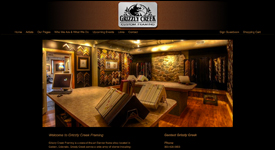 Grizzley Creek Framing Gallery Website Example