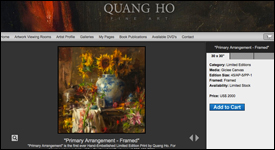Quang Ho Artist Website Design Example