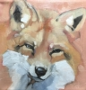 Fox in Winter SOLD by Peggy Judy